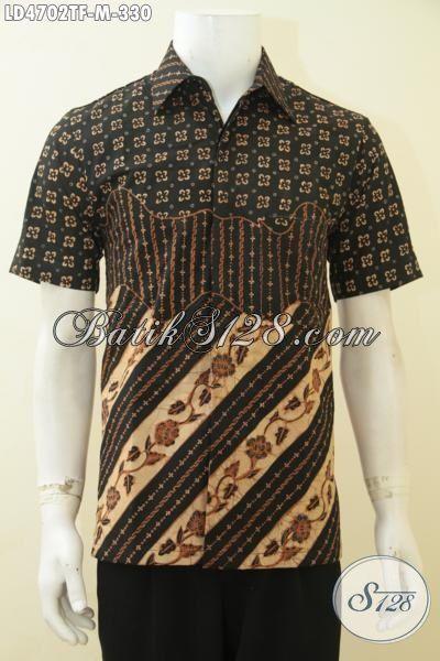 Jual Kemeja Batik Tulis Desain Tiga Motif Terbaru Yang Lebih Mewah, Baju Batik Lengan Pendek Elegan Buat Kerja Dan Mewah Buat Kondangan, Size M