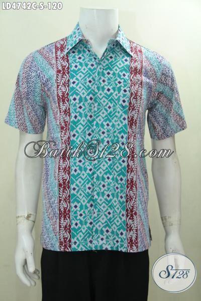 Baju Batik Pria Muda Motif Unik Dan Gaul Hem Batik Lengan