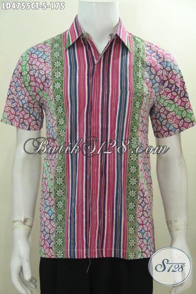 Baju Batik Bagus Motif Unik Warna Cerah Nan Berkelas, Kemeja Batik Masa Kini Desain Modis Tampil Gaul Dan Modern, Proses Cap Tulis [LD4755CT-S]