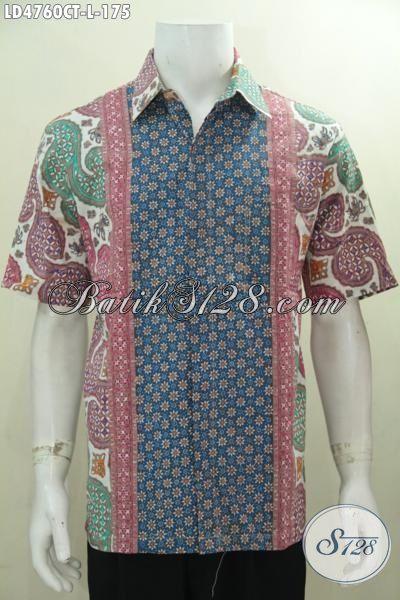 Distro Pakaian Batik Online Sedia Hem Lengan Pendek Batik Cap Tulis Kombinasi Tiga Motif Modern Yang Trendy  Bikin Pria Lebih Percaya Diri, Size L