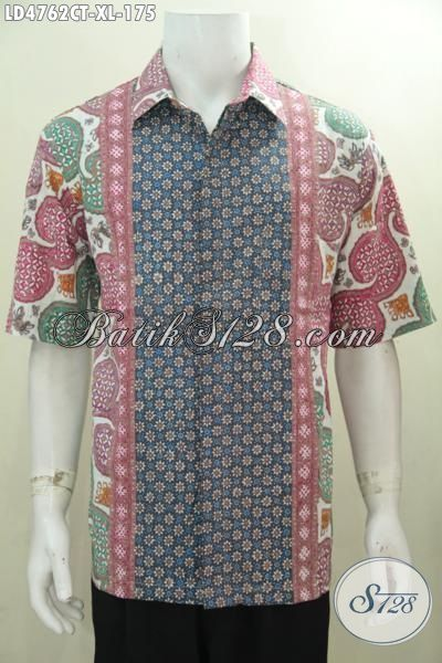 Jual Baju Batik Fashion Buat Cowok Tampil Makin Modis, Busana Batik Solo Berbahan Bagus Dan Halus Proses Cap Tulis Harga Terjangkau [LD4762CT-XL]