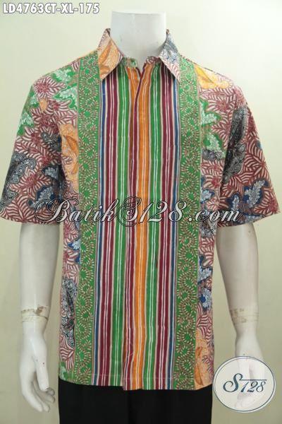 Baju Kemeja Modis Size XL Buat Cowok Dewasa Masa Kini, Produk Busana Batik Solo Motif Kombinasi Bahan Halus Proses Cap Tulis Kwalitas Istimewa