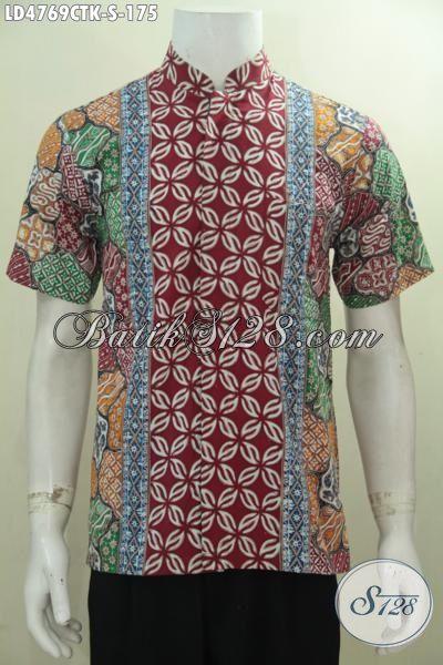 Model baju koko motif batik modis lengan pendek foto Baju gamis pria lengan pendek