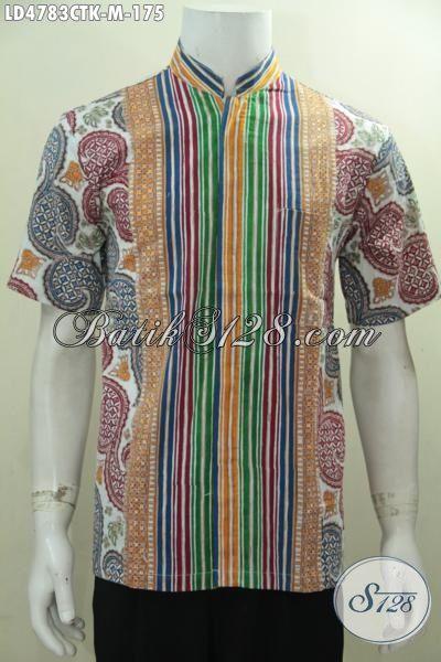 Toko Kemeja Batik Online Sedia Hem Batik Cap Tulis Model Kerah