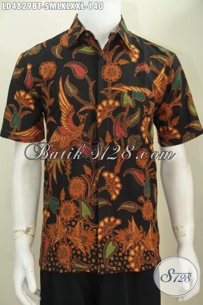 Kemeja Batik Elegan Lengan Pendek, Busana Batik Nuansa Klasik Motif Bagus Proses Kombinasi Tulis Pas Banget Buat Acara Formal [LD4829BT-S]