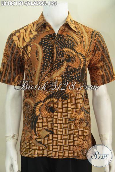 Hem Batik Klasik Halus Dan Berkelas, Kemeja Batik Lengan Pendek Kombinasi Tulis Buat Pria Muda Dan Dewasa Tampil Gagah Dan Tampan, Size S – L – XL