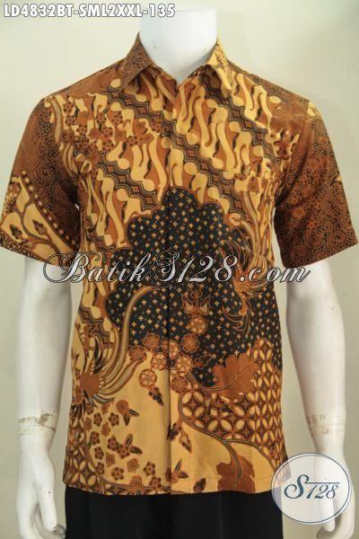 Toko Busana Batik Jawa Online Sedia Baju Batik Jawa Istimewa Motif Klasik Proses Kombinasi Tulis, Pakaian Batik Lengan Pendek Pilihan Tepata Tampil Gagah Di Kantor