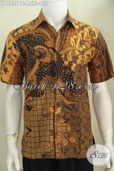 Sedia Baju Kerja Batik Jawa Motif Klasik Cowok Tampil Gagah Dan Tampan, Baju Batik Berbahan Halus Proses Kombinasi Tulis Harga hanya 100 Ribuan [LD4835BT-M]