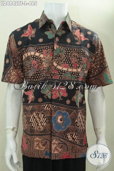 Jual Baju Batik Cowok Paling Keren Saat Ini, Busana Batik Jawa Elegan Motif Mewah Bisa Untuk Santai Dan Formal, Hem Batik Tulis Istimewa Full Furing Tampil Percaya Diri, Size L