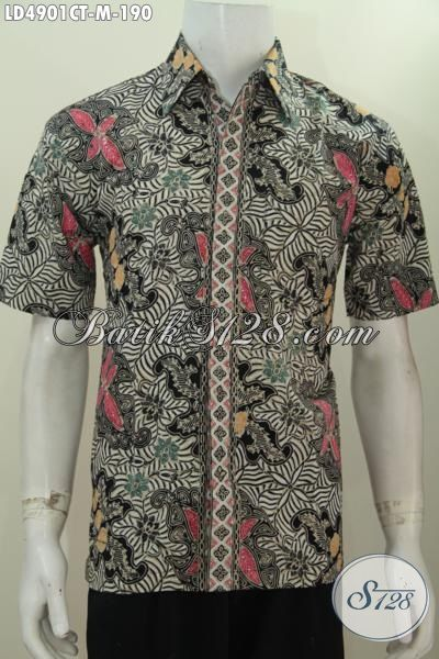 Baju Batik Trendy Proses Cap Tulis Model Lengan Pendek