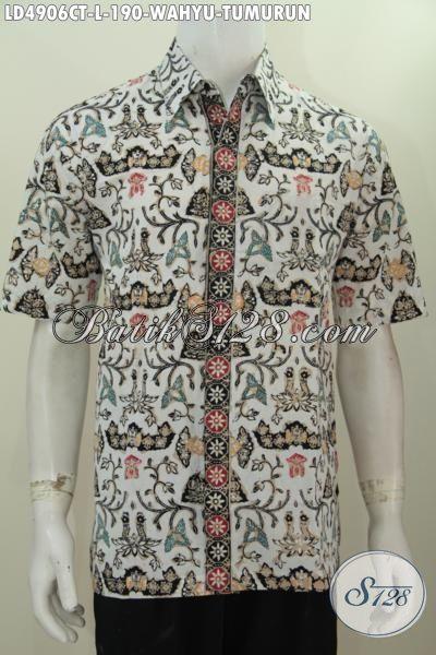 Kemeja Batik Klasik Lengan Pendek Wahyu Tumurun Proses Cap Tulis