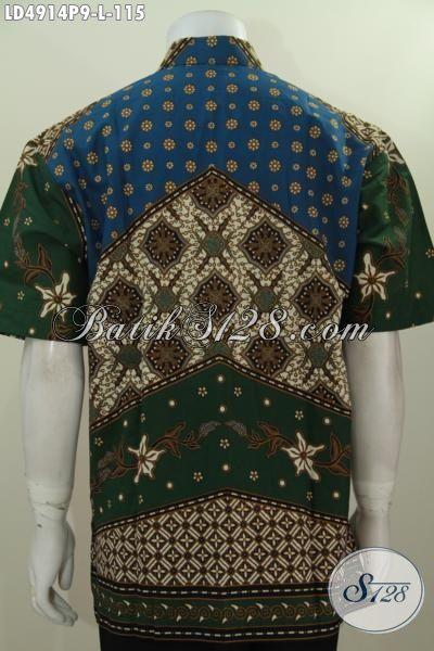 Jual Busana Batik Bagus Harga Murmer, Hem Batik Lengan Pendek Motif Klasik Ukuran L Buat Pria Dewasa, Cocok Buat Kerja Dan Kondangan