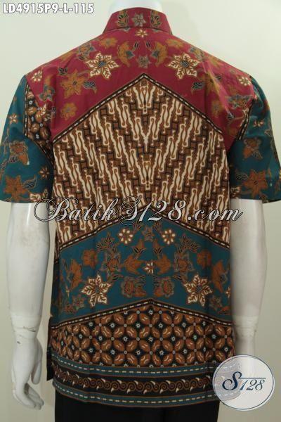 Baju Kerja Batik Motif Klasik, Pakaian Batik Printing Halus Kwalitas Istimewa Desain Terbaru, Tampil Mewah Dan Gagah Tak Harus Mahal [LD4915P-L]