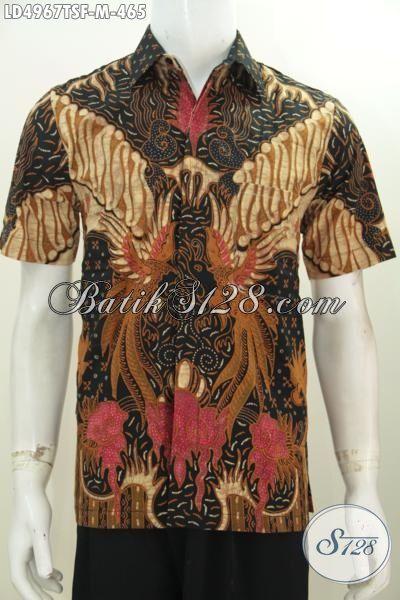 Baju Batik Berkelas Produk Solo Asli, Pakaian Batik Premium Daleman Full Furing Motif Keren Warna Klasik Proses Tulis Soga, Cocok Untuk Baju Kerja, Size M