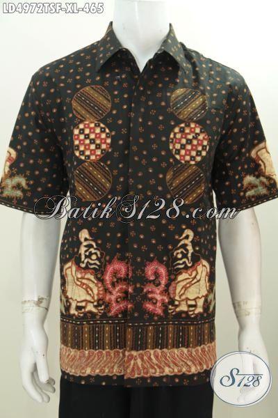 Jual Baju Batik Premium Pake Furing, Produk Kemeja Batik Tulis Lengan Pendek Motif Terbaru Yang Terlihat Mewah Dan Elegan Untuk Tampil Lebih Gaya, Size XL