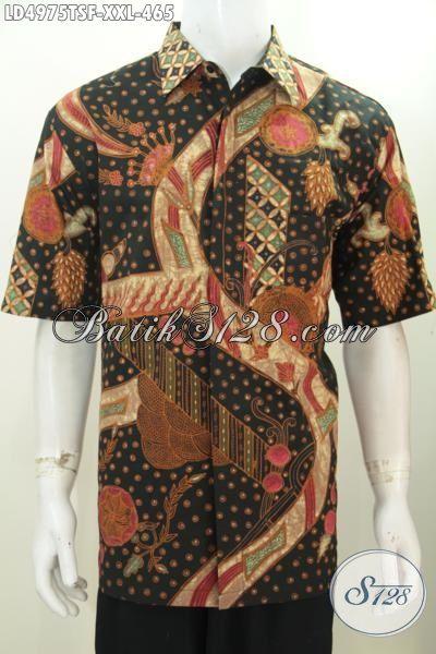 Sedia Baju Batik Lengan Pendek 3L Spesial Untuk Lelaki Berbadan Gemuk, Kemeja Batik Premium Motif Bagus Daleman Full Furing Cowok akanterlihat Makin Menawan, Size XXL