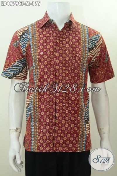 Baju Batik Modern Model Lengan Pendek Motif Unik Produk