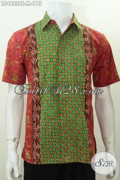 Jual Online Busana Batik Solo Motif Terbaru Proses Cap Tulis, Produk Baju Batik Lengan Pendek Ukuran M Modis Buat Kerja Dan Kondangan