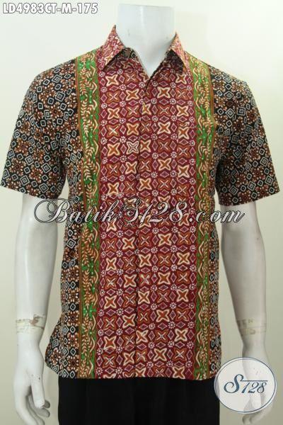 Hem Batik Modis Dengan Motif Yang Inovatif Buat Pria Muda Terlihat Makin Macho, Baju Batik Masa Kini Kwalitas Istimewa Harga Terjangkau, Size M