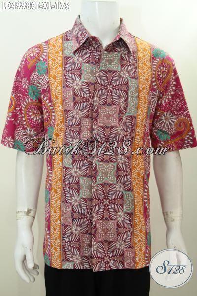 Baju Kerja Batik SIze XL Bahan Halus Adem Nyaman Di Pakai, Produk Kemeja Batik Lelaki Dewasa Motif Trendy Tampil Makin Gaya
