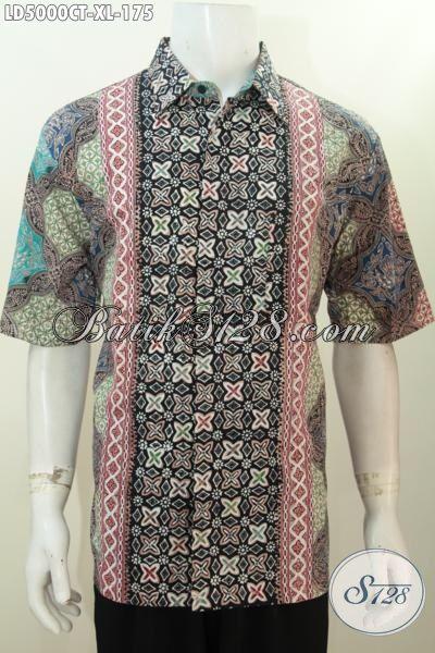 Jual Seragam Kerja Pegawai Bahan Batik Halus Motif Kombinasi, Baju Batik Proses Cap Tulis Untuk Lelaki Dewasa Untuk Tetap Bisa Tampil Modis Dan Elegan [LD5000CT-XL]