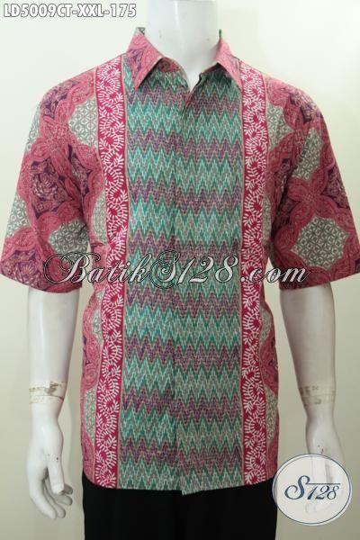 Batik Santai Desain Motif Unik Kwalitas Istimewa, Produk Baju Batik Khusus Untuk Pria Gemuk Proses Cap Tulis Asli Buatan Solo, Size XXL