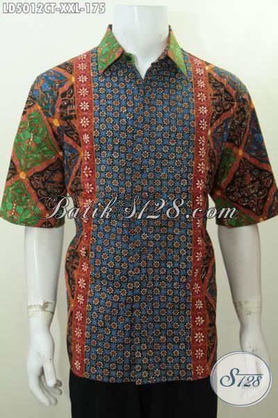 Distro Baju Batik Solo Online Terlengkap, Sedia Kemeja Lengan Pendek 3L Untuk Pria Gemuk, Bahan Halus Motif Trendy Cocok Untuk Pesta Dan Jalan-Jalan, Size XXL