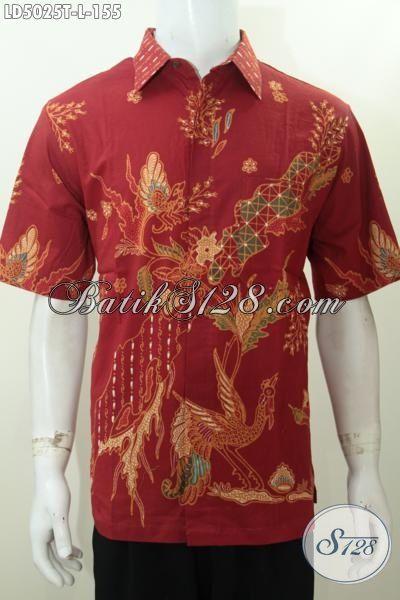 Busana Kerja Pria Bahan Batik Halus Motif Bagus Proses Tulis, Kemeja Batik Istimewa Harga Grosir Asli Buatan Solo, Size L