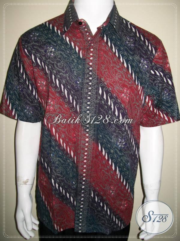 Kemeja Batik Parang Exclusive, Baju Batik Kerja Pria [LD505CTC-L]