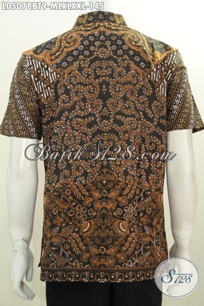 Baju Hem Batik Klasik Lengan Pendek, Busana Batik Jawa Halus Motif Mewah Proses Kombinasi Tulis Membuat Lelaki Lebih Berkarakater, Size M – L – XL – XXL
