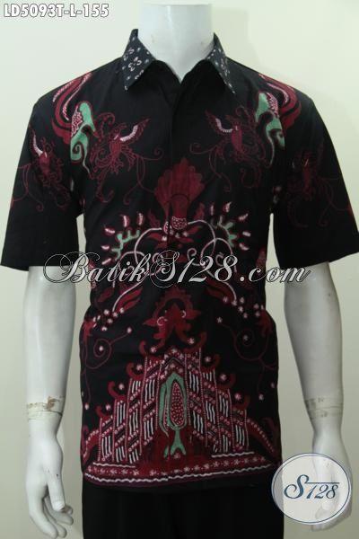 Baju Hem Batik Gaul Motif Unik Proses Tulis, Baju Pesta Bahan Batik Tulis Khas Jawa Tengah Kwalitas Mewah Harga Bawah [LD5093T-L]
