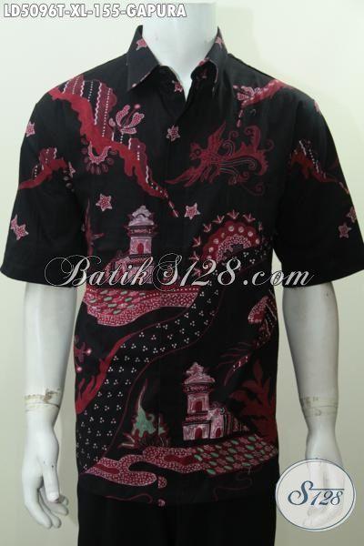 Pakaian Batik Pria Ukuran Xl Busana Batik Lengan Pendek