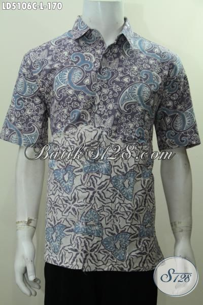Baju Hem Batik Cap Produk Terbaru Dengan Motif Unik Dan Keren, Pakaian Batik Modis Nan BerkelasUntuk Kerja Bisa Hangout Juga Bisa [LD5106C-L]