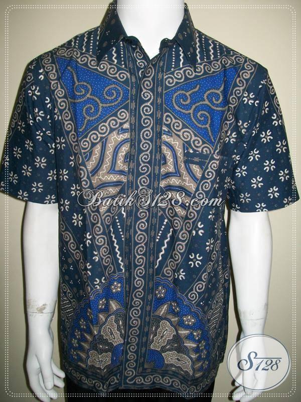 Batik Pria Berkualitas dan Berkelas, Warna Biru Elegan [LD510T-L]