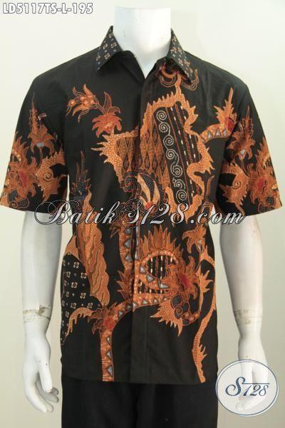 Hem Trendy Bahan Batik Tulis Soga Istimewa Kwalitas Halus, Pakaian Batik Untuk Jalan-Jalan Dan Kerja Tampil Bergaya, Size L