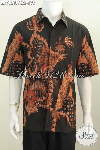 Produk Pakaian Batik Tulis Soga Istimewa Kwalitas Premium Motif Berkelas, Baju Batik Cowok Size XL Trend Mode Masa Kini, Di Jual Online