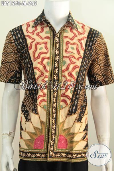 Baju Kemeja Batik Klasik Seragam Kerja Elegan Buatan Solo Indonesia, Busana Batik Berkelas Proses Tulis Kwalitas Premium, Cocok Buat Kondangan, Size M