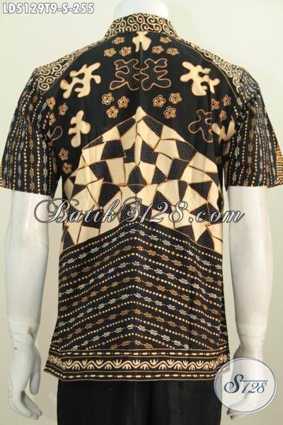 Baju Batik Elegan Motif Klasik Pas Banget Buat Kondangan, Kemeja Batik Tulis Kwalitas Premium Buatan Solo Asli Dengan Bahan Halus Dan Adem Tampil Modis Serta Menawan [LD5129T-S]