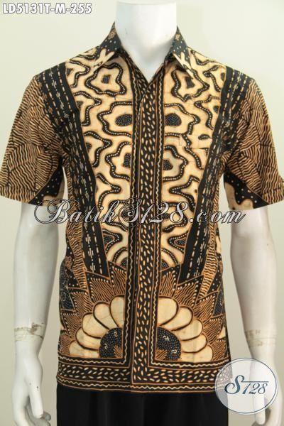 Baju Hem Kwalitas Premium Berbahan Halus Motif Klasik, Busana Batik Lengan Pendek Yang Modis Buat Acara Formal Serta Bagus Buat Kerja [LD5131T-M]