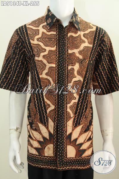 Jual Produk Kemeja Batik Pria Ukuran XL, Busana Batik Tulis Premium Motif Klasik Elegan Membuat Lelaki Terlihat Berwibawa
