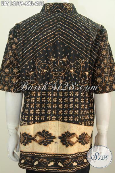 Hem Batik 3L Model Lengan Pendek, Pakaian Batik Jawa Tengah Istimewa Buatan Solo Proses Tulis Tangan Tampil Gagah Dan Percaya Diri, Size XXL