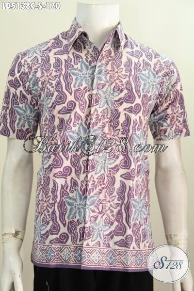 Kemeja Batik Anak Muda Dengan Desain Modis Berpadu Motif Trendy Cocok Buat Hangout, Pakaian Batik Halus Buatan Solo Proses Cap Hanya 100 Ribuan Saja, Size S