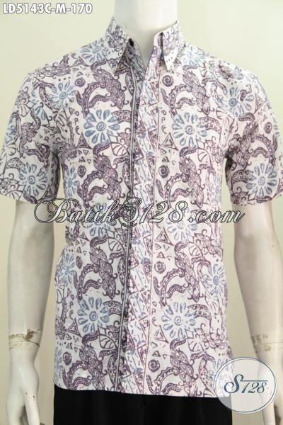 Baju Batik Lelaki Masa Kini Buat Tampil Terlihat Beda Dan Gaya, Pakaian Batik Solo Istimewa Bahan Halus Motif Terbaru Proses Cap Hanya 100 Ribuan [LD5143C-M]