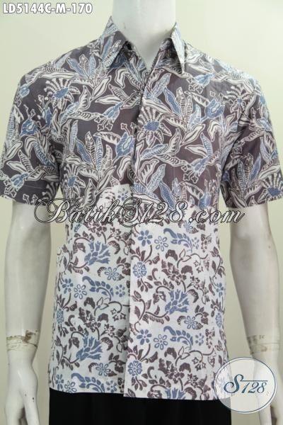 Produk Baju Batik Lengan Pendek Dua Motif Kwalitas Istimewa, Pakaian Batik Modern Proses Cap Tampil Berkelas Dengan Harga Terjangkau, Size M