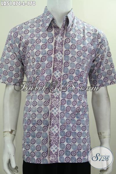 Baju Hem Batik Modis Desain Trendy Motif Terkini, Produk Busana Batik Pria Ukuran L Modis Buat Kerja Dan Jalan-Jalan, Proses Cap