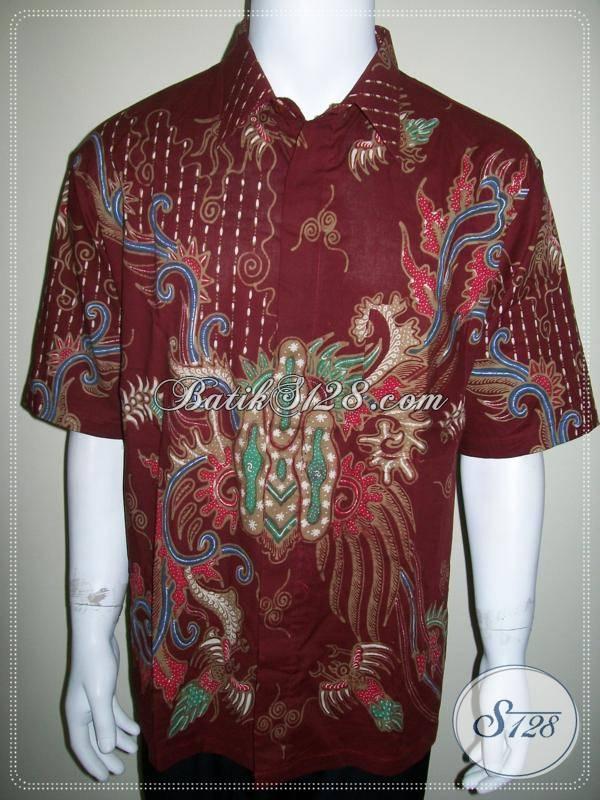 Baju Batik Tulis Warna Merah Untuk Pria Pemberani Dan