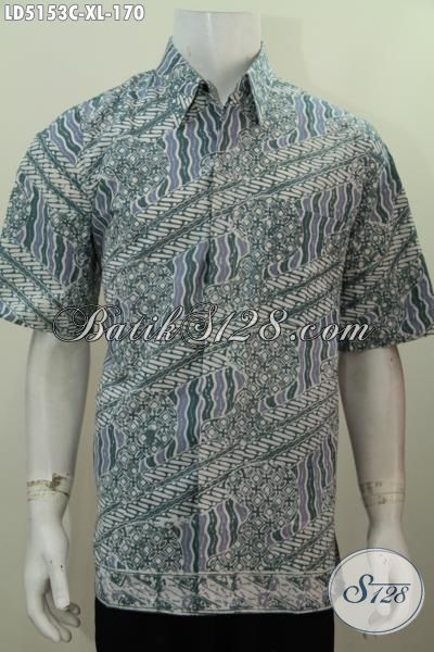 Toko Batik Online Terlengkap Saat Ini, Jual Hem Lengan Pendek Batik Cap Motif Terbaru Kwalitas Bagus Tampil Modis Dan Stylish, Size XL
