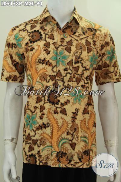Pakaian Batik Printing Untuk Cowok Dewasa, Baju Batik Size XL Motif Elegan Bahan Halus Kwalitas Bagus Harga Di Bawah 100 Ribu