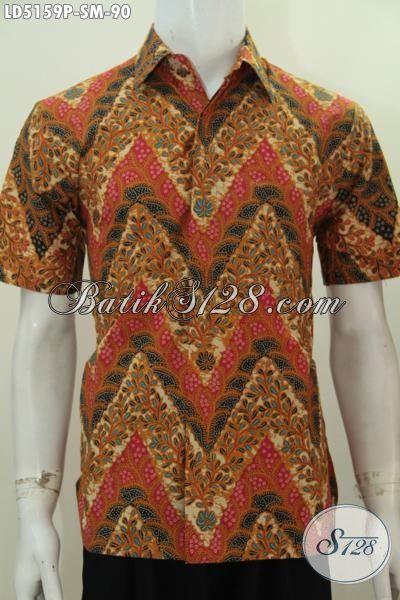Pakaian Batik Printing Buatan Solo Dengan Motif Mewah Berbahan Halus Desain Elegan Membuat Pria Lebih Berwibawa, Size S – M
