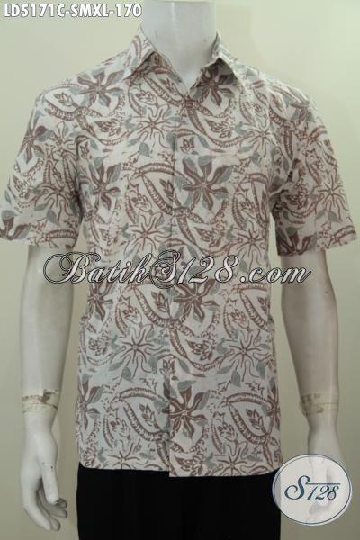 Kemeja Batik Untuk Anak Muda, Hem Lengan Pendek Batik Cap Halus Motif Unik Untuk Tampil Lebih Bergaya, Size S